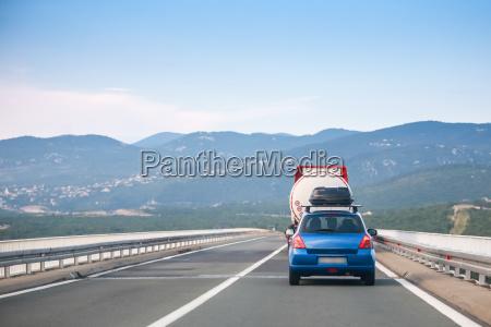 car driving over krk brige