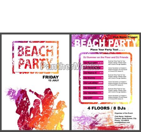 beachparty flyer vorlage