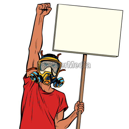 african man protest against polluted air