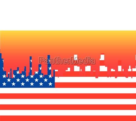 turm bauten stadt amerikanisch grafik sonnenuntergang