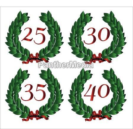 dekoration ausschmueckung zierrat gebinde nummeriert zier