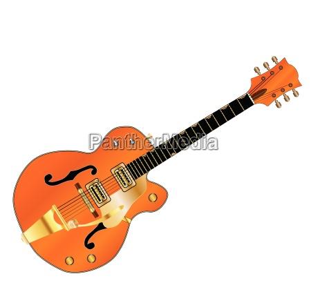 elektrisch gitarre country western halb haelfte