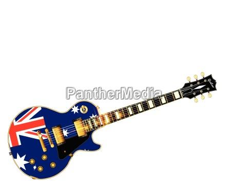 australian flag guitar