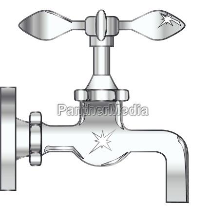 freisteller silber silbern illustration metall abgeschieden