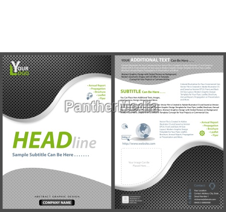 flyer template with metallic perforated grid