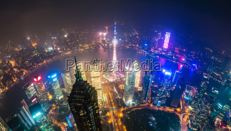 view of pudong area and the