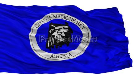 medizin hut stadtflagge kanada alberta provinz