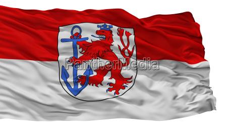 duesseldorf stadtflagge deutschland isolation auf weissem