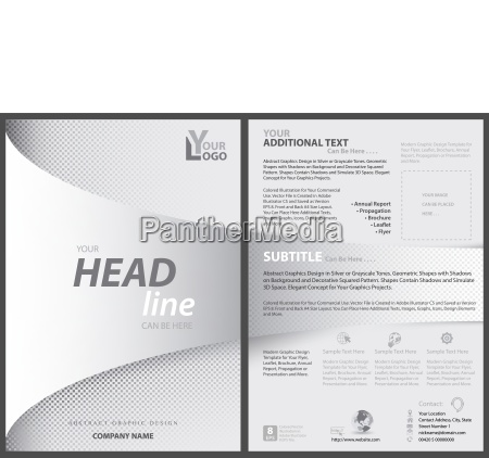 white flyer template with bent strip