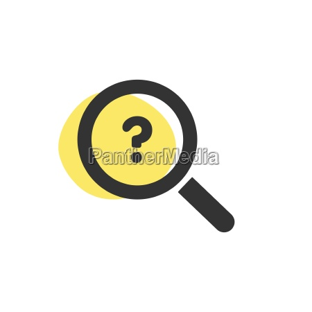 magnifying glass looking for a shop