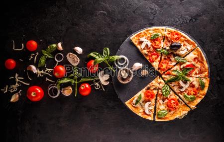 konzept der pizza
