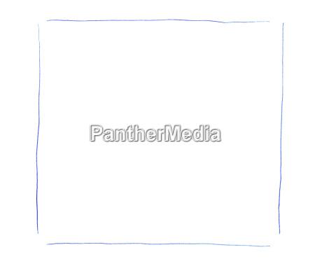 blaue lokalisierte kastenhand gezeichnet