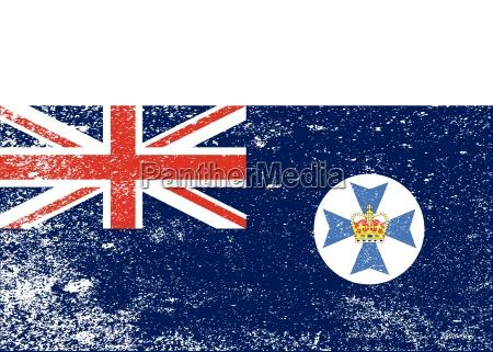 queensland state grunge flag
