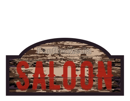 old saloon sign