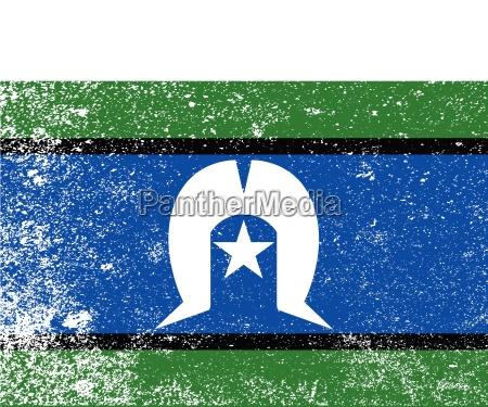 torres strait islander grunge flag