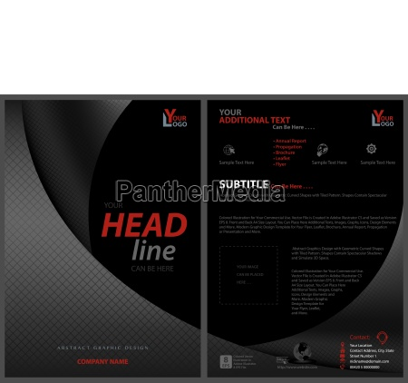 black leaflet template with bent squared