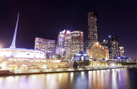 view of southbank area in melbourne