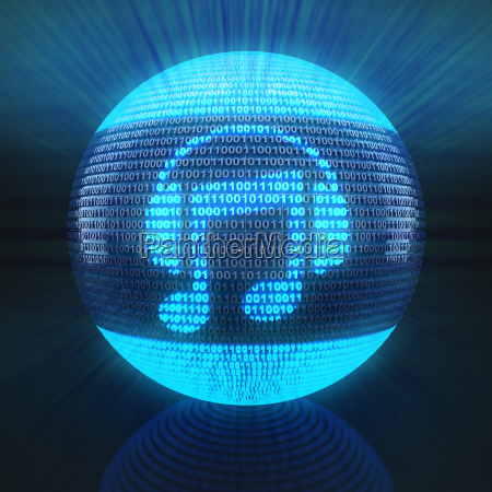 music icon on sphere formed by