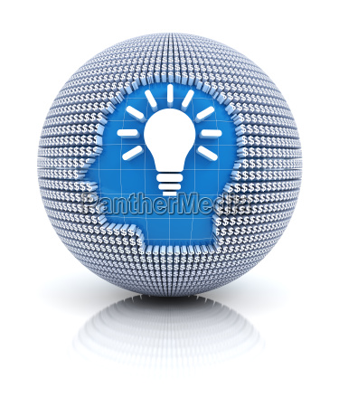 business idea icon on globe formed
