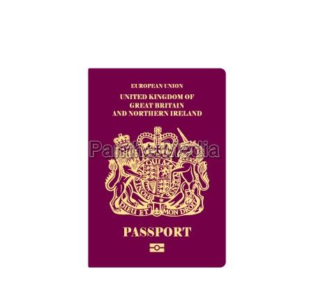 britischer reisepass illustration