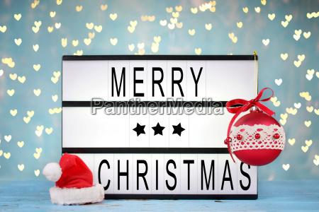 weihnachtsdekoration leuchtkasten mit text frohe weihnachten