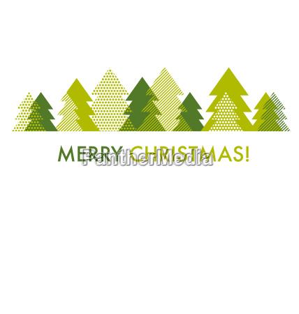 gruene weihnachtsbaum kartenvorlage vektorillustration des abstrakten