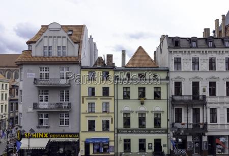 vintage architektur der altstadt in torun