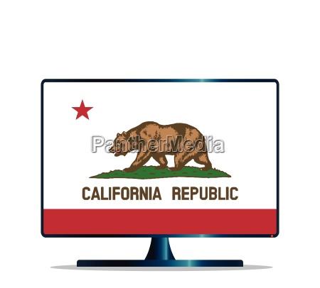 california flag tv