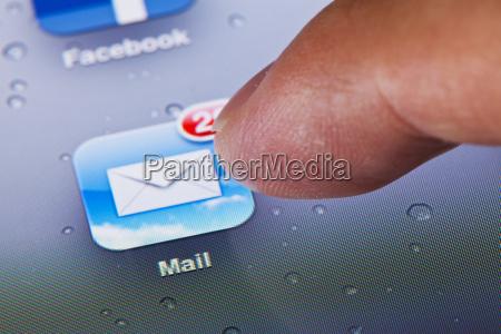 klicken sie auf das mail symbol