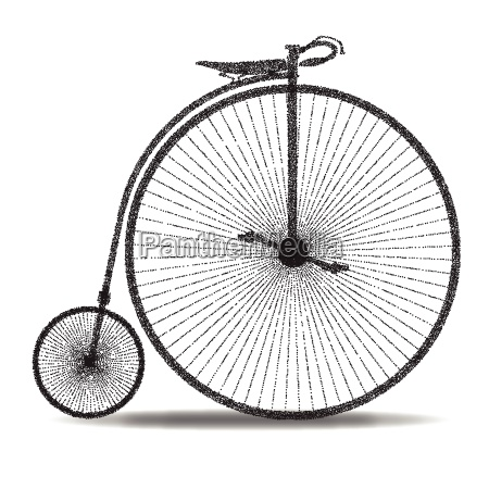 penny farthing dot silhouette