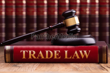 gavel and soundboard on trade law