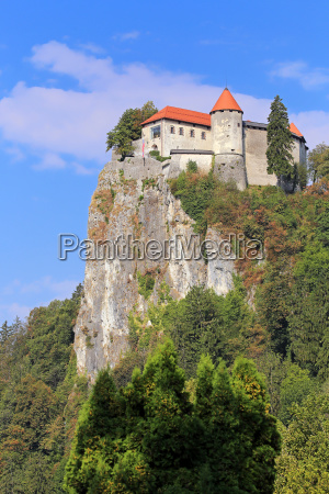 view of bled castle from bled