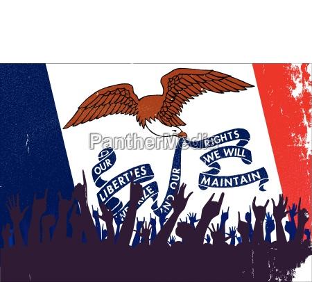 iowa state flag mit publikum