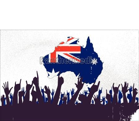 australien fuenfter kontinent down under fahne