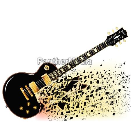 zerbrochen elektrisch gitarre geknickt beschaedigt schadhaft