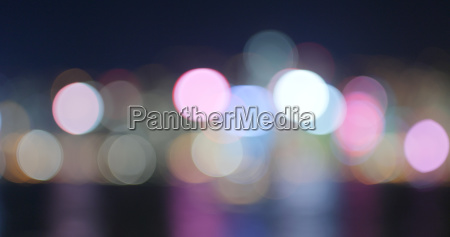 blur view of city at night
