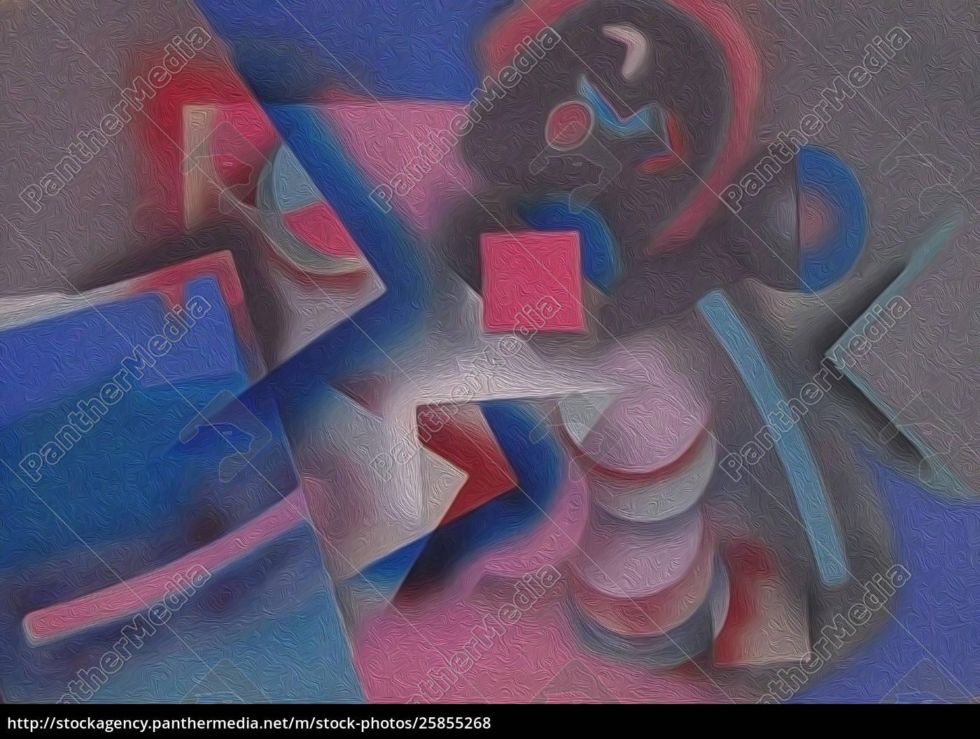 Abstrakte Malerei Mit Geometrischen Figuren Lizenzfreies Foto 25855268 Bildagentur Panthermedia
