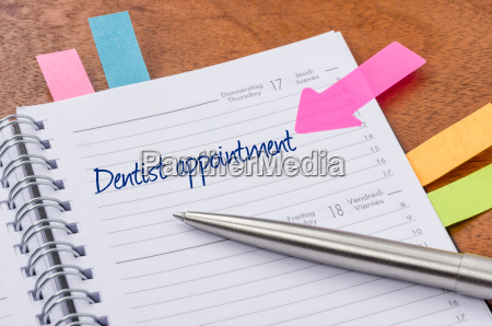 daily planner with the entry dentist