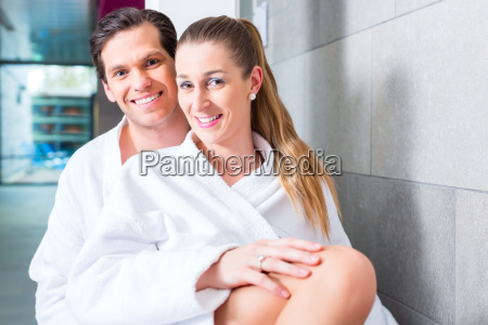 couple in relaxing in wellness spa