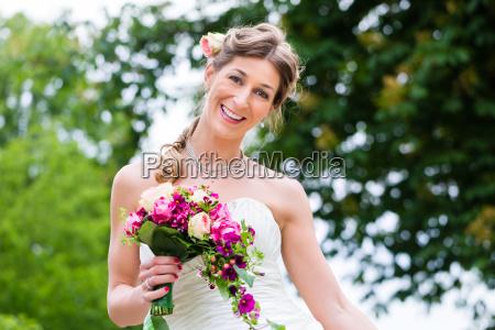 bride in wedding dress with bridal