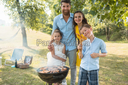 portrait of happy family with two