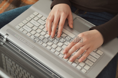 closeup hands of pretty young girl