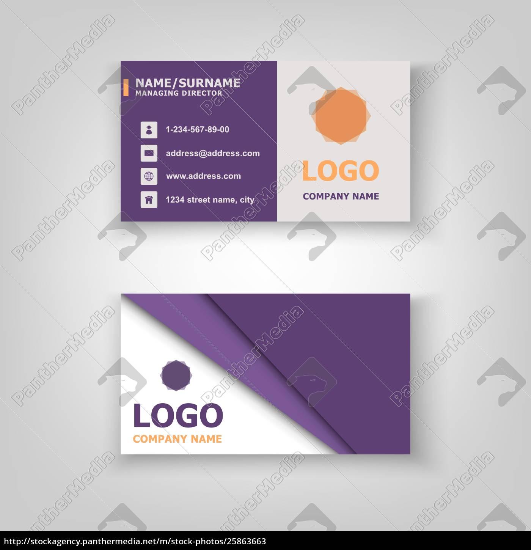 Lizenzfreie Vektorgrafik 25863663 Abstrakte Vorlage Für Visitenkarten