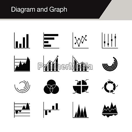 diagram and graph icons design for
