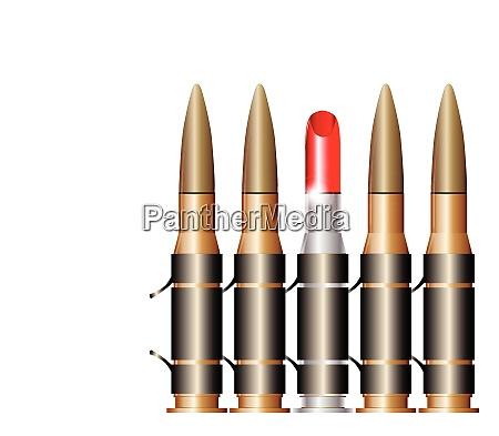 bullet belt with lipstick