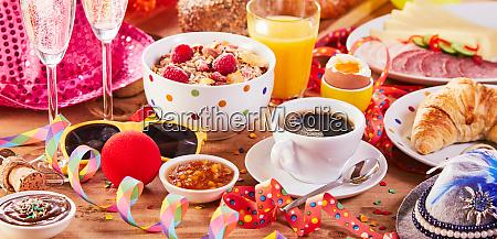 festive colorful carnival breakfast banner