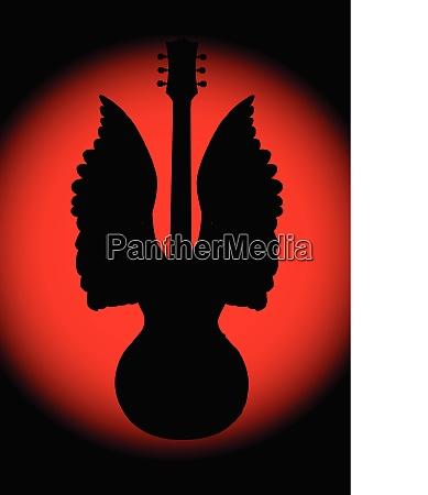 gitarre angel silhouette