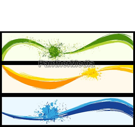 wavy abstract background banners