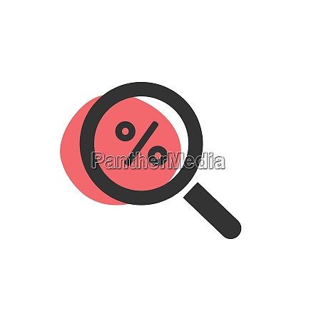 magnifying glass looking for a discount