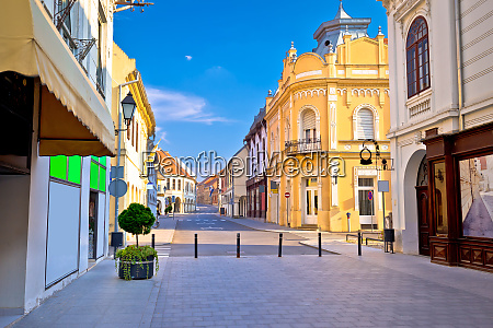 vukovar town square and architecture street